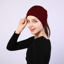 The New Autumn/WinterLladies Knitting With Widening Face Head Empty Mawei Wool Hat