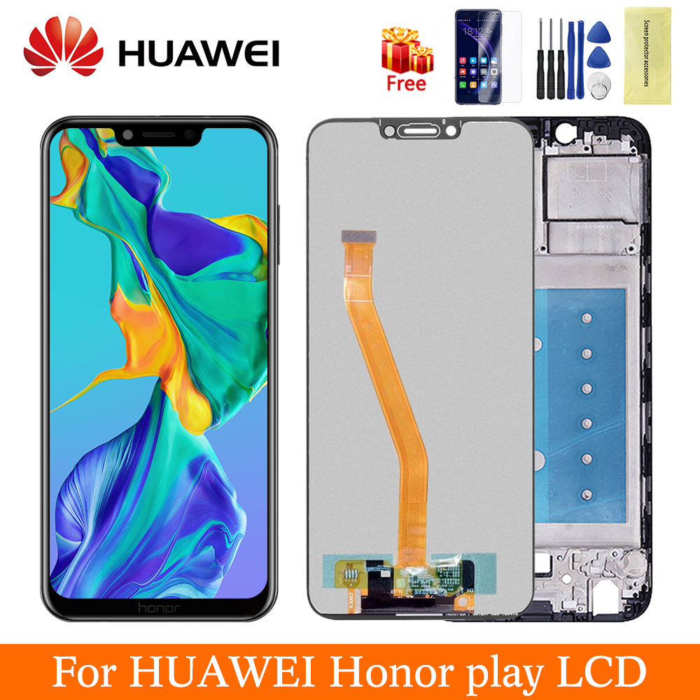 6.3'' Original For Huawei Honor Play LCD Digitizer Touch Screen Assembly With Frame For Honor Play Display LCD COR-L29 COR-L09