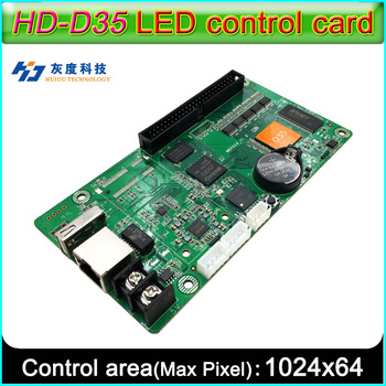 HD-D35 Full color LED display control card, Network RJ45, U-disk communication, Strip-type video screen controller