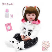 Bebe Reborn bambola 19''soft silicone cute baby doll Boneca ragazzo femminile bambola Brinquedos Bella realtà bebe Sorpresa bambola