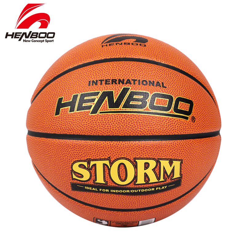 HENBOO High Quality Basketball Official Size 7 TPU Leather+Butyl Liner Outdoor Indoor Sport Inflatable 8108