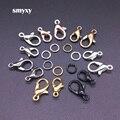 Соединители для крючков с застежкой-лобстером, 7 цветов, 30 шт., 100 шт., открытые круглые соединительные кольца «сделай сам», ожерелье, браслет, ...