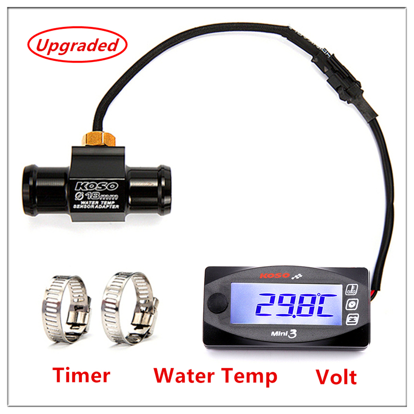 KOSO Motorcycles Thermometer Voltmeter Timer For YAMXHA NMAX XMAX TMAX Mini3 LED Digital Display Quad Square Water Temperature