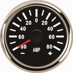 1pc 52mm ze wskaźnikiem Amp wskaźniki Tuning +/-80A 9-32vdc amperomierze Lcd amperomierze z czerwone podświetlenie i czujnik prądu na sprzedaż