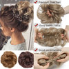 Snoilite women scrunchies hair elastic hair bun chignon hairpieces synthetic updo hair accessories Ponytail Extensions for women 4