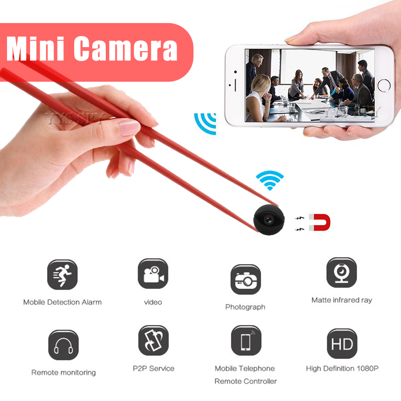 HD 1080P Mini Wifi Camera Video Recorder Infrared Night Vision Hide Camcorder Magnetic Body Gizli Kamera Nanny Remote Micro Cam image