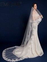 結婚式のアクセサリー、 3 メートルロングつの層レースブライダルベールホワイトチュールウェディングベール