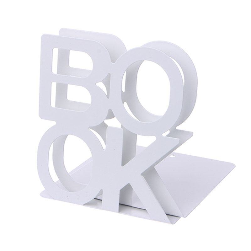 Alphabet Shaped Metal Bookends Iron Support Holder Desk Stands For Books   LX9A