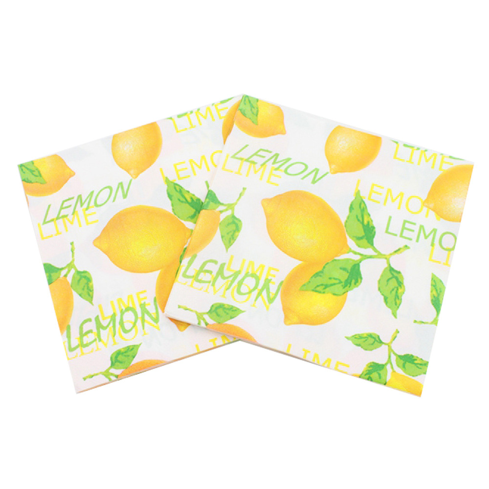 [Currently Available] New Products Listed Lemon Fruit Series Napkin Color Printed Napkin Tissue Paper