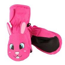 Теплые бархатные варежки для мальчиков и девочек, Нескользящие зимние варежки, детские зимние перчатки, водонепроницаемые ветрозащитные Детские перчатки для От 1 до 8 лет