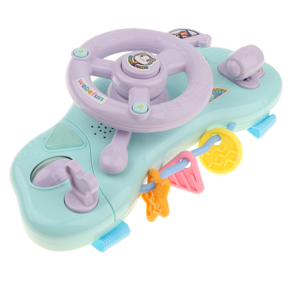 Baby Electronic Musical Driver Steering Wheel Toys With Music & Light For Toddlers Baby Developmental Games