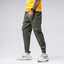 Men Cargo Pant Casual Multi-Pocket Overall Male Combat Cotton Trousers Army joggers pants 2019