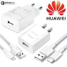 huawei быстрое зарядное устройство QC 2,0 Быстрая Зарядка адаптер usb кабель для p20 p30 Lite nova 3 4 mate 20 lite y6 p smart z