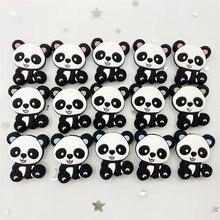 10 pçs panda silicone contas mordedor bebê dentição pingente bpa livre grau alimentício silicone mordedores cuidados com o bebê chupeta corrente diy