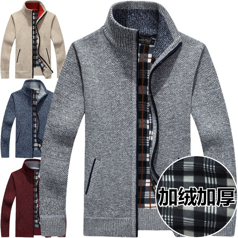 Men's Casual Sweater Coats Winter Fashion Men's Cardigan Sweater Men Long Sleeve Knit Outwear Coat Sweater Male M-3XL