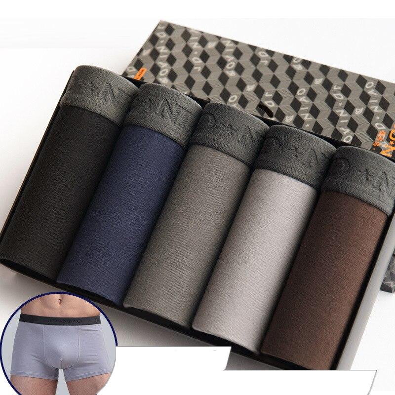 5Pcs/lot Men Underwear Cotton Boxer Men Underpants Comfortable Breathable Men's Panties Underwear Trunk  Boxershorts Man Boxer