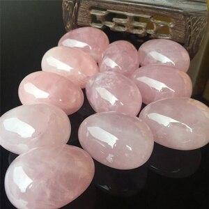 Натуральный розовый кварц, Хрустальный яичный шар, волшебная Сфера, лечебный Кегель, камень для упражнений