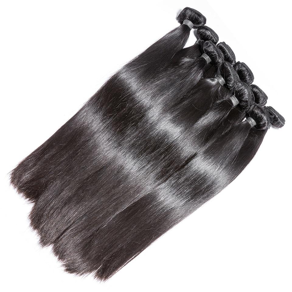 Wholesale  Straight Hair Bundles Long  Bundles 30 32 24 36 38inch   Bundles Natural Color 3