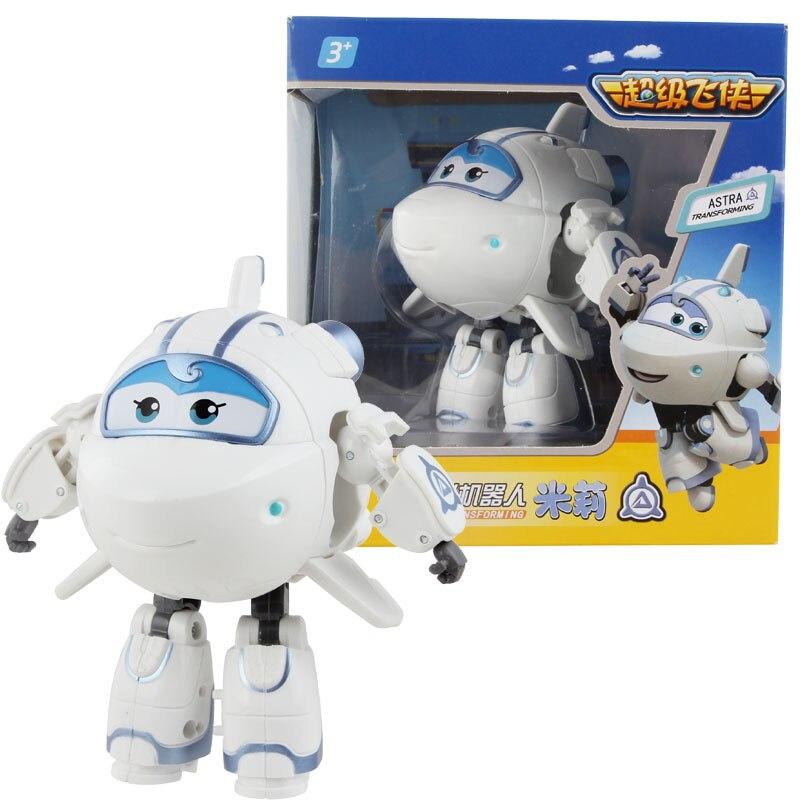 Большой! 15 см ABS Супер Крылья деформация самолет робот фигурки Супер крыло Трансформация игрушки для детей подарок Brinquedos - Цвет: With Box ASTRA