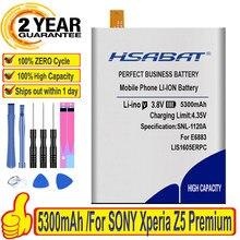 Hsabat 5300 mah bateria para sony xperia z5 premium z5p dupla e6883 e6853 lis1605erpc baterias
