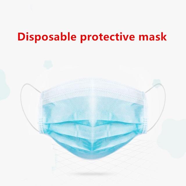 50pcs kids mask Anti Virus Disposable Masks 3 Layer pm25 filter Hygiene Mask Prevent flu Face Mask High quality Children masks 1