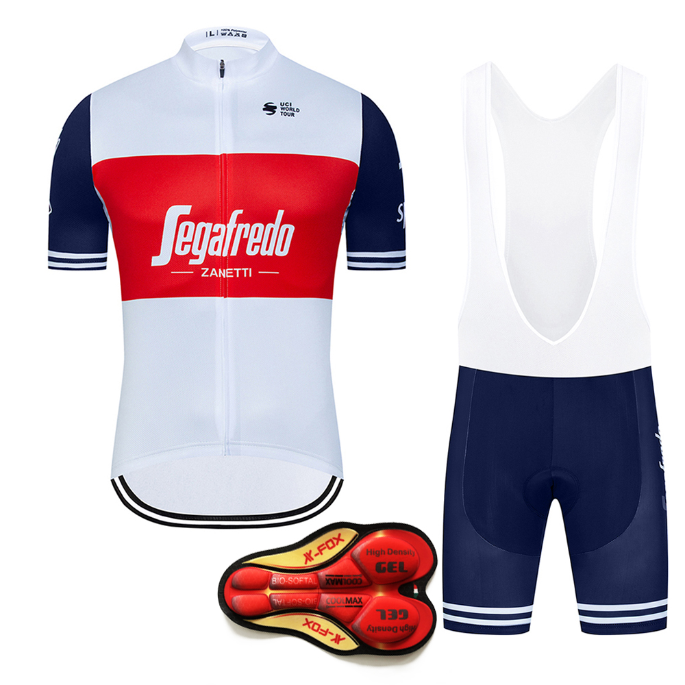 2020 Pro Team Short Sleeve Cycling Jersey Sets For Mens Quick Dry Bicycle Clothes Summer Gel Bib Bike Ropa Maillot Ciclismo