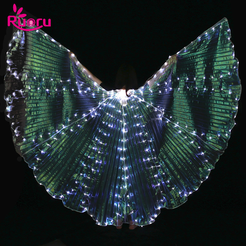 Ruoru Sticks-Accessories Led-Wings Belly-Dance Performance-Props with Adjustable Stage