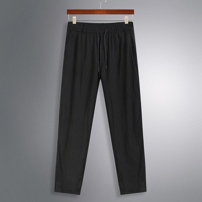 Large men's sports pants fat casual pants fattened men's pants loose straight pants elastic fat men's sports pants
