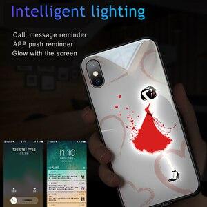 Image 3 - حافظة هاتف من الزجاج المقسى مضيئة للبنات مطبوع عليها نجوم وردية + غطاء زجاجي لهاتف آيفون 11 برو ماكس XS Max XR XS X غطاء يونيكورن