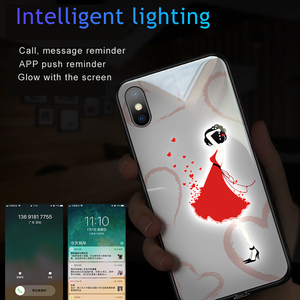Image 3 - Pink Woman Stars Love girl Luminous Tempered Glass Phone Case + Glass Film For iPhone 11 Pro Max XS max XR XS X unicorn Cover