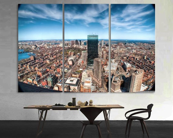 Modern Colorful Photo Picture Fisheye City Photography Room Decor Cities Canvas Art Painting Picture Photo Living Room Bedroom in Painting Calligraphy from Home Garden