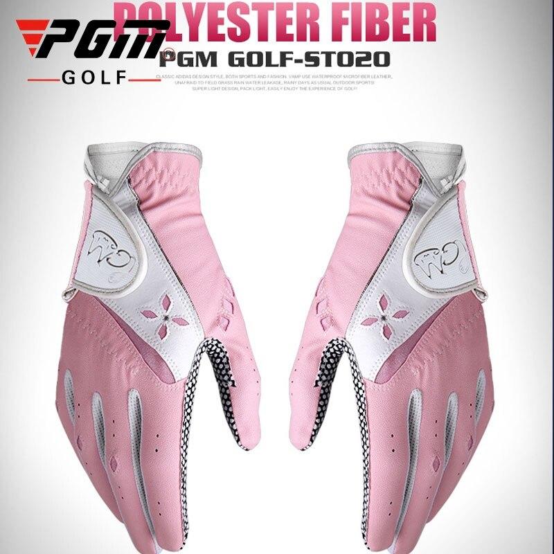 Luvas de Golfe Acessórios de Golfe Feminino Respirável Abrasão Mão Esquerda Direita Luvas Antiderrapantes Senhoras Esporte D0514 1 Par Pgm