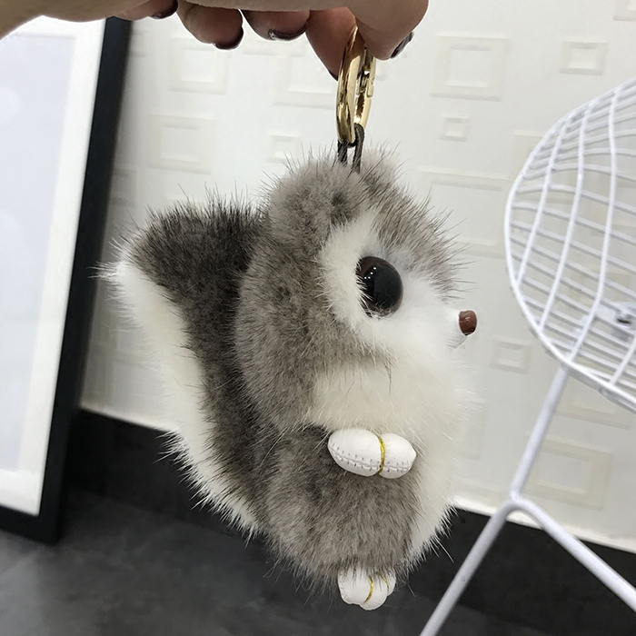 Copenhagen mink fur squirrel doll pendant lovely bag pendant cute squirrel doll key chain