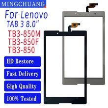 8.0 Polegada para lenovo tab 3 8 TB3-850 TB3-850F TB3-850M digitador da tela de toque sensor vidro painel digitador