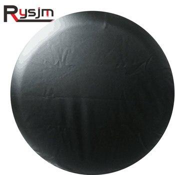 """1 Uds. Cubierta negra pura de la válvula de la rueda del neumático de repuesto del neumático de la PU del PVC para Suzuki 14 """"15"""" 16 """"17"""" pulgadas para las ruedas de la cubierta del neumático del coche SUV"""