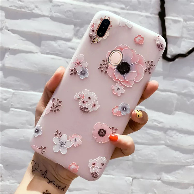3D Cute Pink Flowers Phone Case For Samsung Galaxy A50 A70 A40 A30 A20 A10 A51 A71 Case Cover For Samsung A 50 70 40 30 10 Case