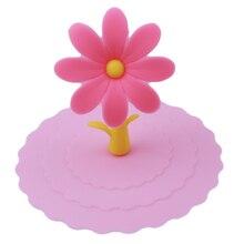 5 цветов креативная антипылезащитная силиконовая крышка для чашки силиконовая Милая крышка для чашки с изображением подсолнуха кофейная чашка крышка с присоской