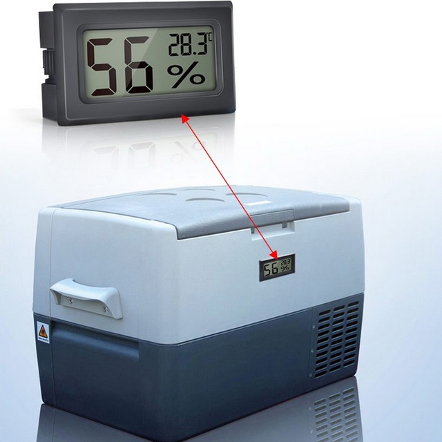 1Pc Mini Indoor Thermometer Digital LCD Temperature Sensor Humidity Meter Thermometer Hygrometer Gauge Fridge Thermometers 6