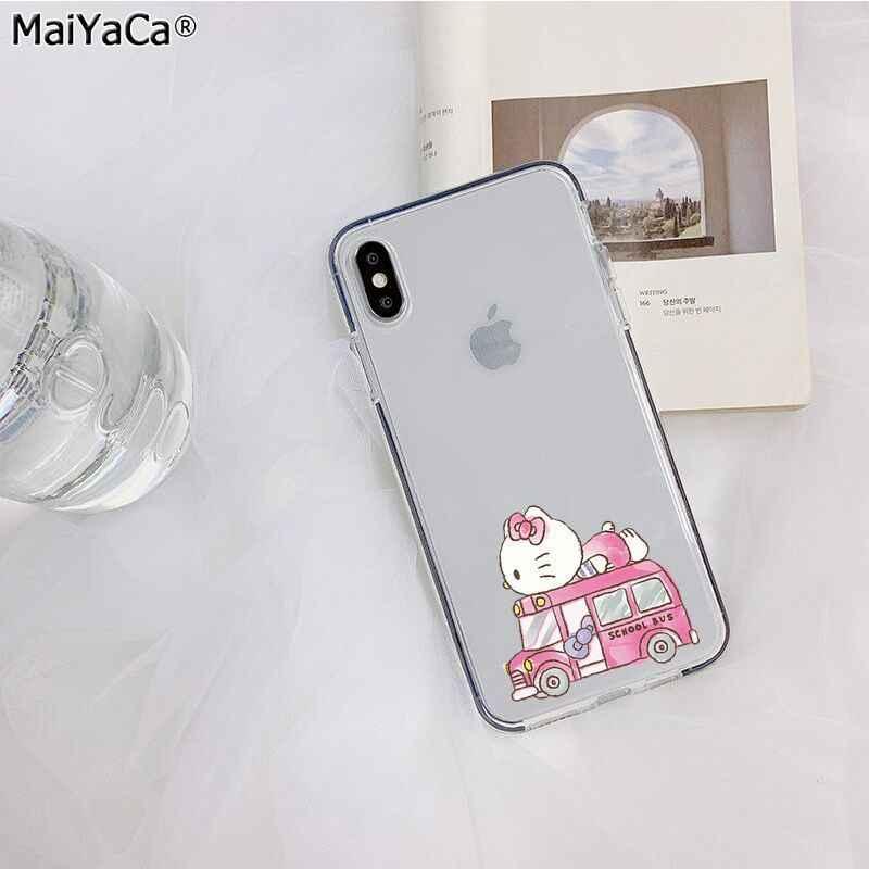 Maiyaca bonito olá kitty personalizado fundas foto caso de telefone para apple iphone 11 pro 8 7 66 s plus x xs max 5S se xr capa móvel