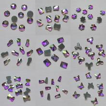 цена на Special Shape Crystal AB Hotfix Rhinestones Glass Strass Hot fix Iron On Flatback Crystals Stones For Fabric Garment Decoration