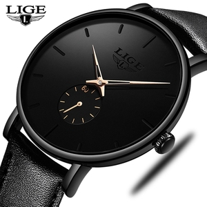 Image 4 - LIGE часы мужские модные повседневные подарочные деловые часы мужские водонепроницаемые кварцевые наручные часы черные кожаные часы Relogio Masculino