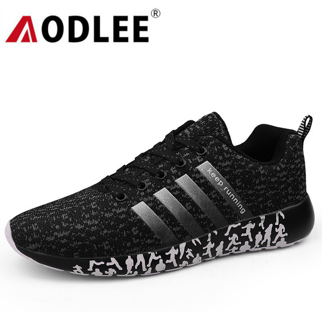 AODLEE Breathable Running Shoes Footwear Men Sports / Casual Shoes color: Black|Blue|Red