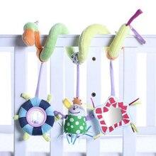 0-12 месяцев мягкие игрушки для малышей мягкие животные детские погремушки игрушки для новорожденных колокольчик, подвешиваемый над кроватью погремушки на кроватку игрушки развивающие игрушки для малышей