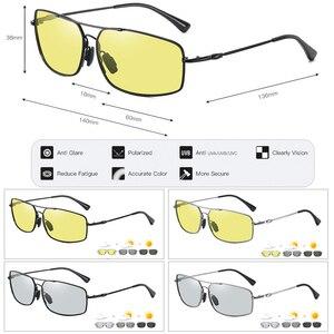 Image 5 - 2020 moda pamięci metalowe okulary przeciwsłoneczne mężczyźni spolaryzowane fotochromowe dzień okulary do jazdy nocą kobiety przebarwienia soczewki lentes de sol