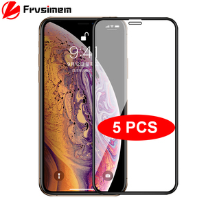 5Pcs/Lot Full Cover Tempered Glass For iPhone 11 Pro Max X XS Max XR 6 6s 7 8 Plus SE 2020 Screen Protector Protective Glass(China)