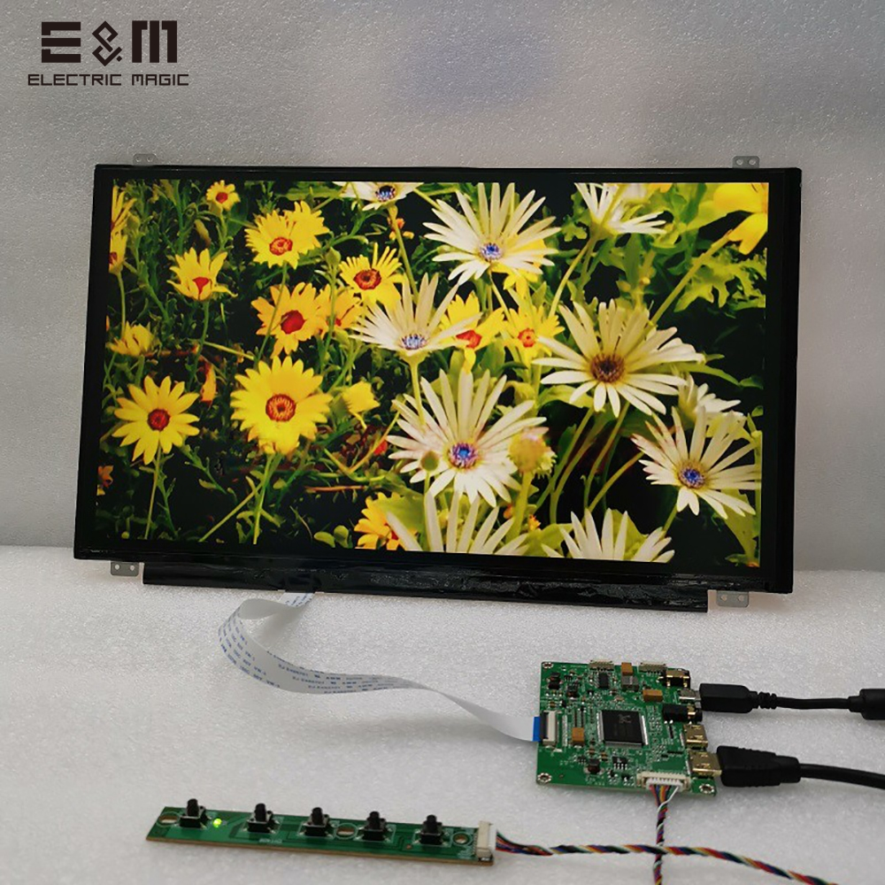 15.6 Inch 1920*1080 UHD Capacitive Touch LCD Screen DIY Kit Monitor With Drive Board HDMI 5V USB Display Module For Raspberry Pi