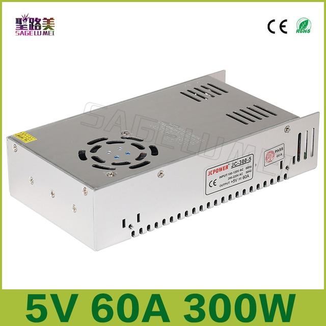 Freies verschiffen 5V 60A ausgang 300W Schalt Netzteil Treiber LED Adapter CCTV US4,DC5V 2812B 2801 8806 Beleuchtung Transformatoren