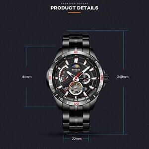 Image 5 - BOYZHE nieuwe holle mechanische horloge met maan fase functie waterdichte lichtgevende mannen automatische horloges luxe merk