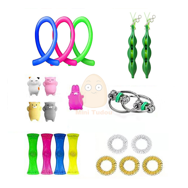 Fidget Toy Funny Anti Stress Sensory Autism Anxiety Relief Plastic Cute Strings Mesh Antistress Kit Toys For Adult Childrens img5