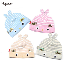 Hepburn Brand Baby  Winter Kids Baby Hats Keep Warm Hat Kids Beanie Knitted Toddler Cap Infant Child Cotton Hat Warm Hat winter baby ears knitted hat infant toddler keep warm cap for children art deco cap